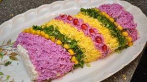 """SalateSalată """"Curcubeu"""" – un aperitiv ce poate fi servit în diverse moduri! Alegeți combinația preferată!"""