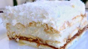 Prăjitura Rafaello -Este gata în doar 30 de minute (fără coacere!)