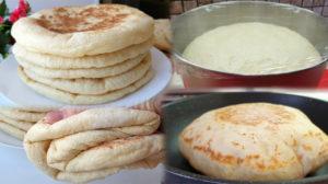 Atât de moale și aerată, încât nu-i poți rezista! Pâine turcească la tigaie